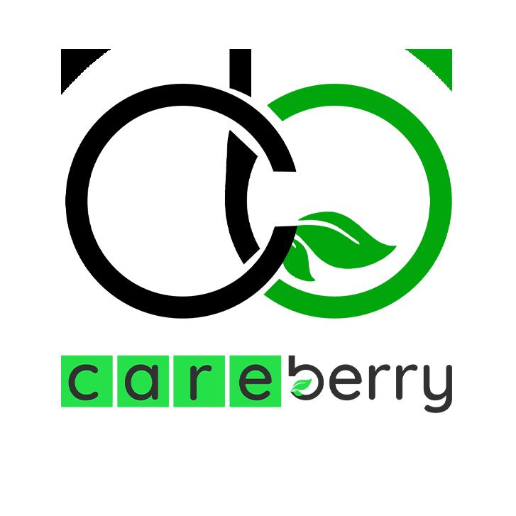 Careberry White Logo
